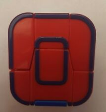 Alphabots Letter O Transformer Robot Mattel 1985 Japan Red Blue Vintage Toy