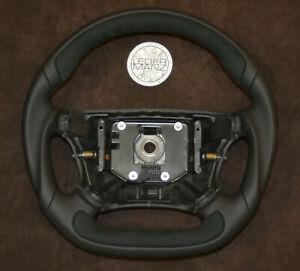 SAAB 9-5 97-04 Exclusive custom steering wheel thick flat bottom Nappa+Alcantara