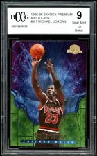 1995-96 Skybox Premium Meltdown Card #M1 Michael Jordan Card BGS BCCG 9 NM+