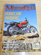 CLASSIC MOTORCYCLE BIKE MAGAZINE MAR 02,NORTON 16H,CS1,PARILLA,TRIUMPH T100T,X75
