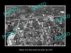 OLD LARGE HISTORIC PHOTO OF MALONE NEW YORK, AERIAL VIEW OF THE TOWN c1945 2
