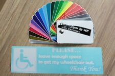 Leave Enough Space To Get Wheelchair Out Sticker Vinyl Disabled Decal Adhesive W
