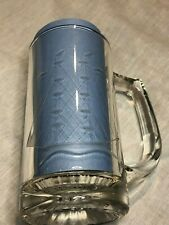 k Etched Glass Nautical Beer Tankard Mugs Stein Sailboat Collectible Bar Ware