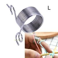Stainless Steel Fingertip DIY Weaving Tools Thread Leading Knitting Accessories