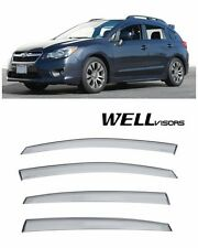 For 13-UP Subaru Impreza Sport XV WellVisors Side Window Visors Premium Series
