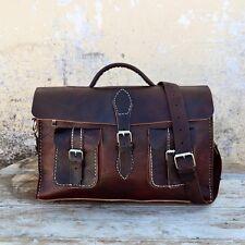 Aktentasche Schultasche Lehrertasche Umhängetasche Leder-Tasche Vintage 28 NEU!