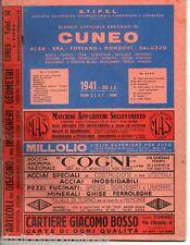 STIPEL ; Elenco telefonico di CUNEO Alba Bra Fossano Mondovì Saluzzo .. 1941