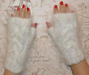 Russian Cashmere Mohair Angora Gloves Mittens 100% Goat Fur Organic Fetish