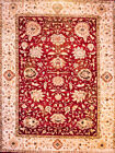 Hand-knotted Rug (Carpet) 8'10X11'9, Agra mint condition