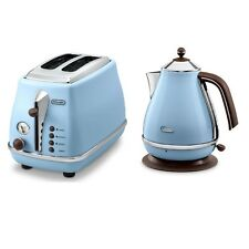 Delonghi CTO2003/KBO2001VAZ Icona Vintage 2 Slice Kettle + Toaster PACK Sky Blue