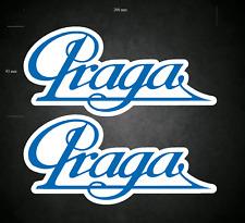2 x 200mm x 93mm PRAGA Stickers/Decals - Karting - Go-Kart