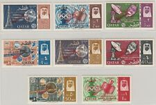 Qatar 1966 Space Rendezvous Gemini Ovpt in Red Complete Set of 8, F-VF MNH
