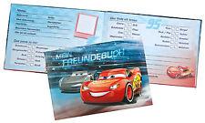 Cars Freundebuch aktuell  Lightning McQueen DINA5 quer Kein Sparversand!!!