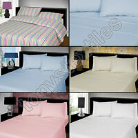 LUXURY THERMAL FLANNELETTE 100% BRUSHED COTTON PILLOWCASE PAIR PILLOW CASES
