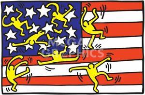 "HARING, KEITH-AMERICAN MUSIC FESTIVAL NY BALLET-ART PRINT POSTER 13""X19""(2786-2)"