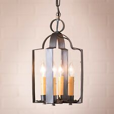 Primitive Country Farmhouse Colonial Industrial Tinner's Saddle Light in Black