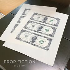 The Goonies - Pair Prop of Uncut Banknote Sheets / Fratelli's Hideout Fake Money