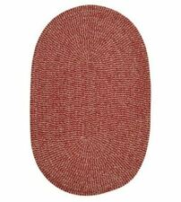Softex Check Indoor Outdoor Oval Braided Rug, 2x10 Sangria Red & Tan Striped