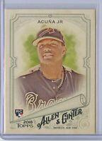 2018 Topps Allen & Ginter RONALD ACUNA JR Base Rookie Card - Atlanta Braves