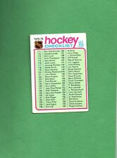 1975 Topps Hockey Set CHECKLIST # 171 FOR CARDS 111-220