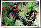 JIM LEE & ALEX SINCLAIR - JUSTICE LEAGUE SUPERMAN BATMAN FINE ART PRINT  S&N 30