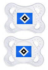 Hamburger SV Fanartikel MAM 2er Baby Schnuller 0-6 Monate Silikon günstig neu