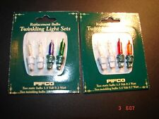 PIFCO-Xmas bulbs--1.5v 0.3w coloured ( 7862)  2 cards