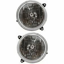 Headlight Set For 2003-2004 Jeep Liberty Driver and Passenger Side w/ bulb