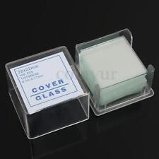 100PCS Blank Microscope Slides Square Cover Glass Biological Specimen Slice 22mm