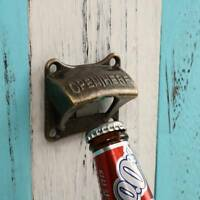 WALL MOUNTED VINTAGE CAST IRON BEER BOTTLE OPENER ANTIQUE OLD STYLE