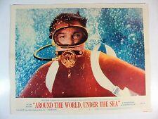 ORIGINAL 1966 AROUND THE WORLD UNDER THE SEA MOVIE THEATER LOBBY CARD