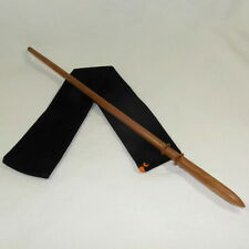 "16"" Draco Hand Turned Almond Wood Magic Wand Wizard Wiccan w/ Free Velvet Bag"