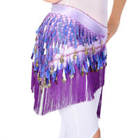 Belly Dance Hip Scarf Halloween Skirt Performance Belt Christmas Gift Sequined