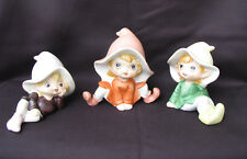 Vintage Home Interior Pixie Figurines Set 3 Pixie Figurines Homco Figurines 5213