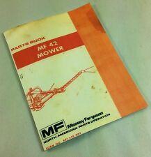 MASSEY FERGUSON MF 42 MOWER BAR SICKLE PARTS BOOK MANUAL REAR MOUNTED PART LIST