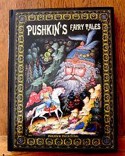 Libro ruso Pushkin de cuentos de hadas regalo único en inglés Palekh pinturas