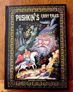 BOOK Pushkin's Fairy Tales Russian GIFT in ENGLISH PALEKH PAINTINGS