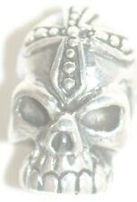 Skull Cross [ Stud - Earring ] [ 925 Sterling Silver ] QTY 1