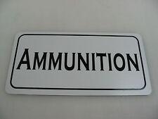 PISTOL AMMUNITION Sign Military Room Shop Machine Gun Club Tank Safe Collector