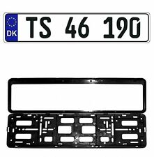 New Denmark/Danish EEC European Front License Plate (Random) & Mounting Frame