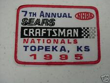 1995 NHRA CRAFTSMAN NATIONALS EVENT PATCH @ TOPEKA