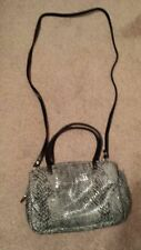 New listing Gray and black reptile print women's purse