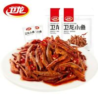 Chinese Food Snacks WeiLong Fish larvae Zi Hunan flavor卫龙小鱼仔 即食麻辣小魚 150g*2bags