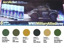 a ITALERI ACRYLIC PAINT 440AP -Set 6 Colori Acrilici - WWII Military Allied Army