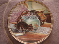 """""""FISH TALES"""" BY CHRISTINE WILSON PREMIER ISSUE 1991 PLATE, 8 1/2"""" DIAMETER"""