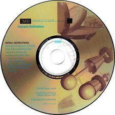 Instant Estimator Cost Estimating PC Windows XP Vista 7 8 10 New CD-ROM