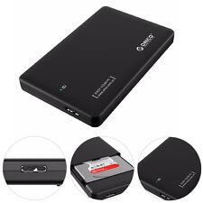 "USB 3.0 SATA External 2.5"" HDD SSD Hard Drive Enclosure Disk Case Storage Box"