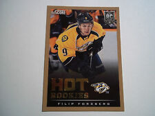 "2013-14 SCORE ""HOT ROOKIES"" GOLD BORDER PARALLEL CARD #630 - FILIP FORSBERG"