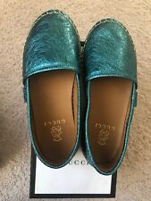 dcddf82d3f318 Gucci Leather Upper Galassia Girl Shoes Blue Turquoise Size 29