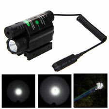 Combo Tactical Flashlight Light & Green Laser Sight Weaver Rail For Pistol/Glock